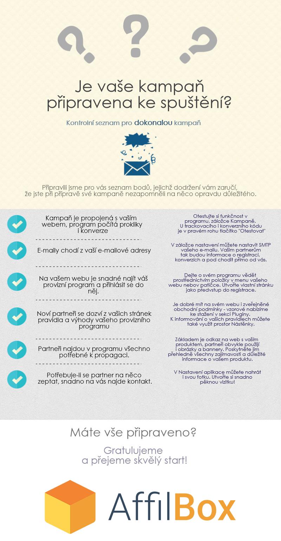 Infografika ke spuštění affiliate kampaně