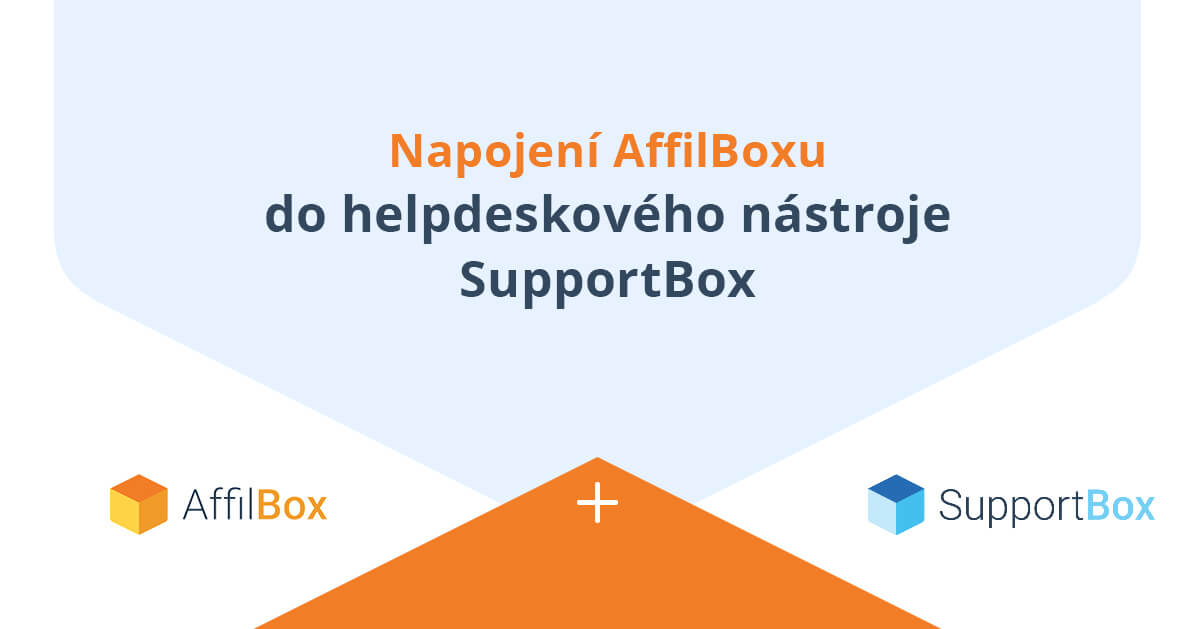 AffilBox je napojený na SupportBox