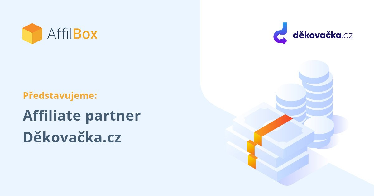 Představujeme affiliate partnera Děkovačka.cz